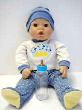 """13"""" Lee Middleton Baby Doll By Reva, With Bottle, Sucks Thumb, Soft Body"""