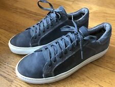 Barneys New York Mens Suede Leather Sneaker Shoes Trainers Made Italy Size 9