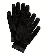 $99 Alfani Men'S Black Gray Touch Screen Stretch Fit Warm Winter Gloves One Size