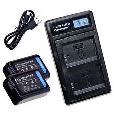 LUMOS PRO Dual Ladegerät + 2x Akku NP-FW50 1050mAh für Sony Alpha 7 II RX10 NEX