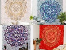 Indische Lotus Mandala Tapisserie Wandbehang Tagesdecke Schlafsaal Dekor Hippie