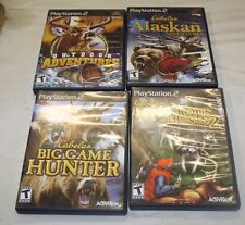 PS2 CABELA'S HUNTING 4 GAME LOT ALL 4 ARE COMPLETE FREE SHIPPING