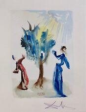 Salvador Dali HAND SIGNED 1960 DIVINE COMEDY PURGATORY #24 Color Woodblock