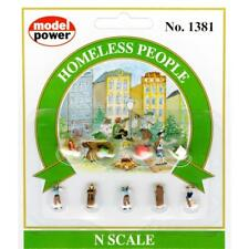 Model Power Homeless People (9 figures) Ready to Use - 1381 - N Gauge