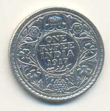 India British Silver 1 Rupee 1917 Bombay Xf