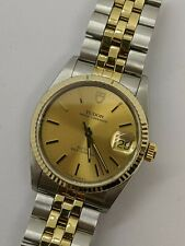 Tudor Prince OysterDate 74033 Stainless Steel & 18K Gold Automatic Watch - 34mm