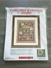 Vintage NEW 1989 Dimensions Twelve Days Christmas Sampler Cross Stitch Kit #8388