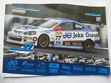 Mike Jordan Unsigned Touring Cars Poster 1.