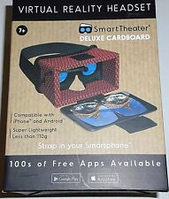 Smart Theater Virtual Reality Headset  Deluxe Cardboard RED