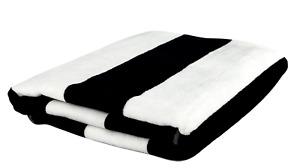 Cabana Stripe Beach Towels 100% Turkish Cotton Velour XL Extra Large Oversized