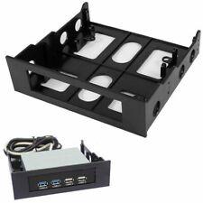 "5.25"" to 3.5"" Drive Bay Computer Case Adapter Mounting Bracket USB Hub Floppy DA"