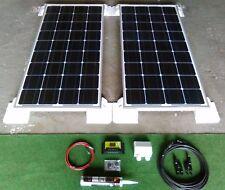 160 WATT MOTORHOME CAMPER SOLAR PANEL KIT USB & LCD display Regulator 160w 2x80w