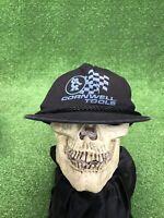 Vintage Cornwell Tools Black Snapback Hat Cap Fast Free Shipping