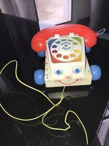 Vintage jouet téléphone FISHER PRICE copyright 1961 made in England super état