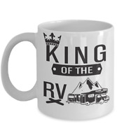 Husband King of RV Camping Mug Camper Coffee Cup Gift for Caravaners