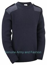 Army Military Combat Style Jumper Commando Pullover Security Winter Sweater Navy