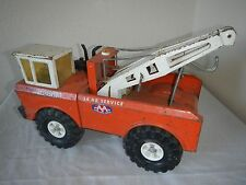 1970'S MIGHTY TONKA TRUCK 24 HOUR SERVICE TOW TRUCK WRECKER Orange PRESSED STEEL