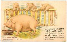 POSTCARD REMY FARM ANIMAL FOOD ILLUSTRATED PIGS 1930'S