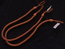 2 soga abrazaderas cortina - óxido - Fino Ajustado Cable Alzapaños