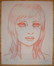 2008 Tear Girl - Silkscreen Art Print S/N by Tara McPherson