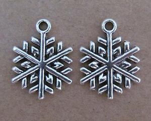 20pc Retro Zinc Alloy Charms CHRISTMAS SNOWFLAKE Accessories Findings SA044