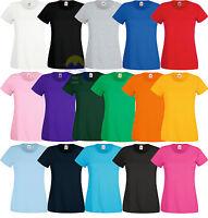 T-shirt Donna/Woman FRUIT OF THE LOOM - XS S M L XL XXL Maglietta a MANICA CORTA