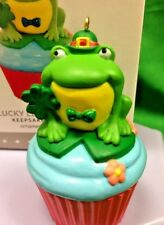 Hallmark Lucky Leap-rechaun #8 Frog Cupcake Series 2016 NIB St Patrick Keepsake