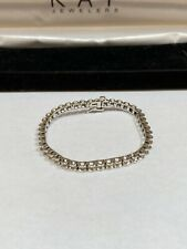 KAY Women Solid 10K White Gold Genuine Diamond Tennis Bracelet