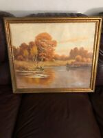 """Antique Oil On Canvas Painting  Adolph Pannash 1866-1952  24""""x 20"""" PA/NY 1942"""
