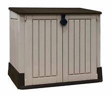 Keter Store It Out Midi Lockable Outdoor Garden Storage Box 845L - Beige/Brown