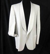 Calvin Michaels Size 46 XL White Tuxedo Jacket Coat Formal Wedding Prom Dance