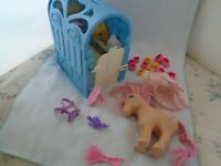 Vtg My Little Pony G1 Pretty Parlor Stable Playset