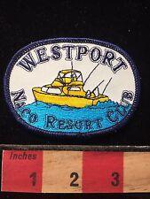 Westport Resort California RV Camper Patch NACO Resort Club ~ Yellow Boat  60C5