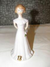 Enesco Figurine Growing Up Birthday Girls Age 13 Brunette Exc