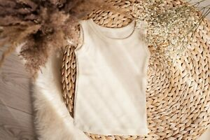 Pure Merino wool singlet tank top sleeveless base layer thermal kids toddler