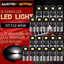20x 6000K White CANBUS T10 192 168 2825 LED Interior Dome License Light Bulbs