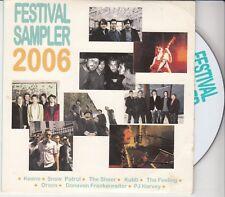 FESTIVAL SAMPLER DUTCH 9 TR PROMO CD Keane (live) Snow Patrol  PJ Harvey