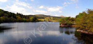 Burrator Reservoir Dartmoor Devon Photo Canvas 10 x 22 inch panoramic (UK)