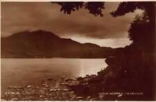 Vtg POSTCARD SCOTLAND LOCH ACHRAY EVENING TROSSACHS RPPC PHOTO MOUNTAINS Antique