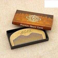 Pettine BARBA IN LEGNO-LEGNO NATURALE Tasca Barba Pettine-Ideale per la toelettatura Barba maschile