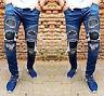 Otantik. Designer Homme Look Destroyed Pantalon Jeans Mince Élastique Biker Neuf