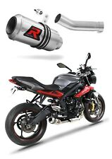 Street Triple R 675 Exhaust GP Dominator Racing silencer muffler 2013 - 2016