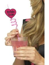 Bride to Be Drinking Straw Pink Adults Hen Party Fancy Dress