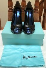 NIB $260 MARCIANO GUESS LIANNE BLACK MULTI FABRIC RUNWAY SHOES size 9 10