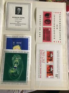 Kleine Sammlung DDR Blöcke postfrisch und gestempelt