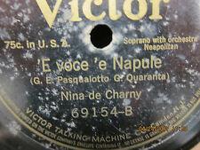 Nina de Charny 'O core' e Catarina & 'E voce 'e Napule - Victor -  78 RPM