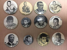 Rare 1940-1950's BOXING PINS COLLECTION OF 12