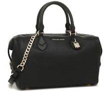 MICHAEL KORS Grayson Large Convertible Satchel Pebble Embossed Leather Black NWT