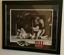 Randall Cunningham & Lawrence Taylor Signed 23x27 Custom framed Photo PSA & JSA