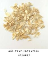 Biodegradable WEDDING CONFETTI IVORY Dried FLUTTERFALL Throwing Petal 1 LITRE